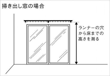 カーテン 採寸方法 掃き出し窓